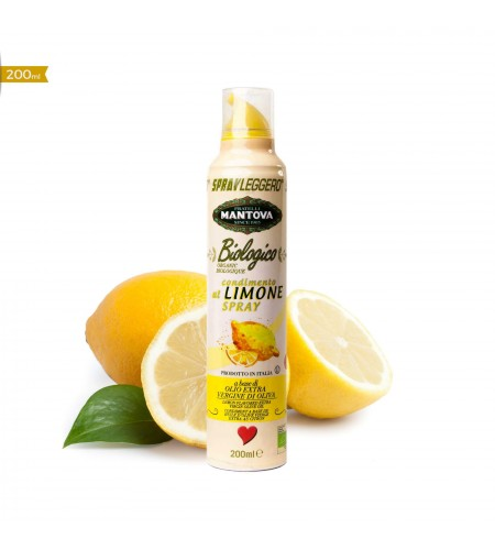 200 ml Limone Spray a base di Olio Biologico Extra Vergine di Oliva - fronte